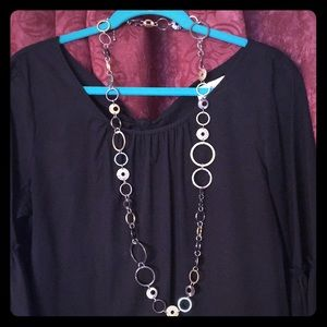 "Lia Sophia mixed media 44"" necklace"